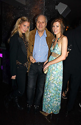Left to right, MARISSA MONTGOMERY, her father DAVID MONTGOMERY and ISABELLA HOARE at a party to celebrate the opening of Kitts nightclub, 7-12 Sloane Square, London on 7th December 2006.<br />