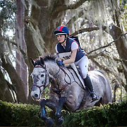Alyssa Phillips and Cooley Caviar at the Red Hills International Horse Trials in Tallahassee, Florida.