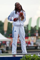 FRANCOIS-ELIE Mandy, FRA, 200m, T37, Podium, 2013 IPC Athletics World Championships, Lyon, France