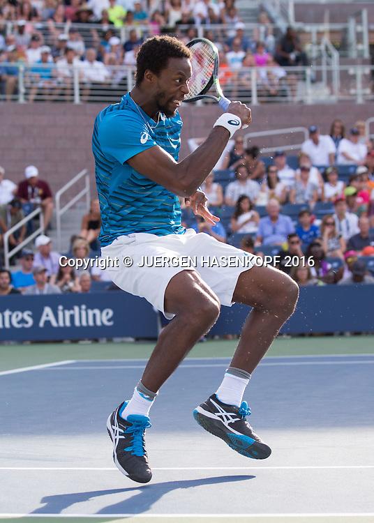 GAEL MONFILS (FRA)<br /> <br /> Tennis - US Open 2016 - Grand Slam ITF / ATP / WTA -  USTA Billie Jean King National Tennis Center - New York - New York - USA  - 2 September 2016.