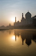 Taj Mahal reflected at sunrise