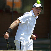 Kingdon Van Nostran, USA, in action in the 75 Mens Singles  during the 2009 ITF Super-Seniors World Team and Individual Championships at Perth, Western Australia, between 2-15th November, 2009.