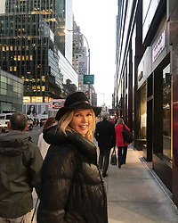"Veronica Ferres releases a photo on Instagram with the following caption: ""Ich bin gerade in #NewYork - und auf dem Weg zur Probe f\u00fcr meinen neuen Film! \ud83c\udfac Ich bin soooo happy!! \ud83d\ude4c\ud83d\ude01 Genaueres gibt\u2019s bald f\u00fcr euch - wer freut sich schon? \ud83d\ude4b\ud83c\udffc\u200d\u2640\ufe0f\ud83c\udf89\n.\n.\n#NY #NYC #usa #businesstrip #usatrip #triptonewyork #travel #job #wiw #nycity #amazingcity #newyork_ig #ig_nyc #ig_unitedstates #streetphotography #america #potd"". Photo Credit: Instagram *** No USA Distribution *** For Editorial Use Only *** Not to be Published in Books or Photo Books ***  Please note: Fees charged by the agency are for the agency's services only, and do not, nor are they intended to, convey to the user any ownership of Copyright or License in the material. The agency does not claim any ownership including but not limited to Copyright or License in the attached material. By publishing this material you expressly agree to indemnify and to hold the agency and its directors, shareholders and employees harmless from any loss, claims, damages, demands, expenses (including legal fees), or any causes of action or allegation against the agency arising out of or connected in any way with publication of the material."