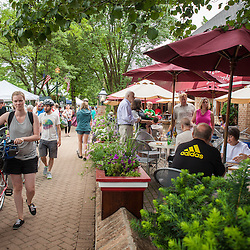 Streets were packed on Saturday June 21, 2014 for the Worthington Farmer's market and Art Festival. (Christina Paolucci, photographer).