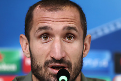 October 17, 2017 - Turin, Piedmont, Italy - Giorgio Chiellini (Juventus FC) during the Juventus FC press conference on the eve of the UEFA Champions League (Group D) match between Juventus FC and Sporting CP at Allianz Stadium on 17 October, 2017 in Turin, Italy. (Credit Image: © Massimiliano Ferraro/NurPhoto via ZUMA Press)
