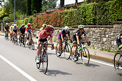 Aniisha Vekemens (Lotto Soudal) looks to push the pace at Giro Rosa 2016 - Stage 4. A 98.6 km road race from Costa Volpino to Lovere, Italy on July 5th 2016.