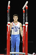 Nikita Nagornyy (Russia) the parallel bars competition during the presentation of the teams during the European Championships Glasgow 2018, Team Men Final at The SSE Hydro in Glasgow, Great Britain, Day 10, on August 11, 2018 - Photo Laurent Lairys / ProSportsImages / DPPI
