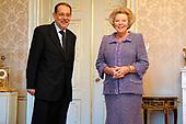Koningin Beatrix en  Javier Solana