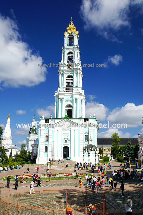 Bell Tower at Novospassky Monastery (New monastery of the Saviour), Moscow, Russia
