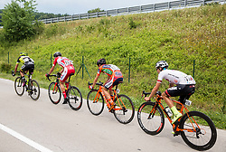 Tomas Buchacek (CZE) of Elkov-Author Cycling team, Gorazd Per (SLO) of KK Adria Mobil, Ivan Santaromita (ITA) of Nippo-Vini Fantini, Enrico Salvador (ITA) of Tirol Cycling Team during Stage 2 of 24th Tour of Slovenia 2017 / Tour de Slovenie from Ljubljana to Ljubljana (169,9 km) cycling race on June 16, 2017 in Slovenia. Photo by Vid Ponikvar / Sportida