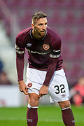 David Vanecek (#32) of Heart of Midlothian FC during the 4th round of the William Hill Scottish Cup match between Heart of Midlothian and Livingston at Tynecastle Stadium, Edinburgh, Scotland on 20 January 2019.