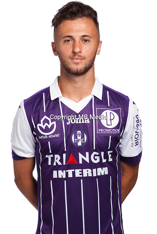 Hugo Clement Triaut of Toulouse during the photo shooting session of Toulouse FC for the new season 2016/2017 in Toulouse on September 16th 2016<br /> Photo : TFC / Icon Sport