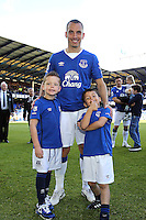 Everton's Leon Osman during the lap of appreciation