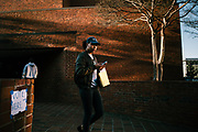BIRMINGHAM, AL – DECEMBER 12, 2017: University of Alabama at Birmingham students exit a polling station after voting in Alabama's Special General Election for the United States Senate.  CREDIT: Bob Miller for The New York Times