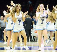Villanova cheerleaders perform in the first half against IUP Saturday, November 5, 2016 at the Wells Fargo Center in Philadelphia, Pennsylvania. (WILLIAM THOMAS CAIN / For The Philadelphia Inquirer)