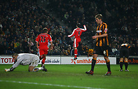 Photo: Andrew Unwin.<br />Hull City v Middlesbrough. The FA Cup. 06/01/2007.<br />Middlesbrough's Mark Viduka (C) celebrates his goal.