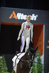 Lucy Phillips, (GBR), Pitucelli, Elizabeth Phillips - Individuals Women Compulsory Vaulting - Alltech FEI World Equestrian Games™ 2014 - Normandy, France.<br /> © Hippo Foto Team - Jon Stroud<br /> 02/09/2014