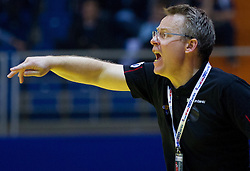 Gudmundur Gudmundsson, head coach of Iceland during handball match between Iceland and Norway in  2nd Round of Preliminary Round of 10th EHF European Handball Championship Serbia 2012, on January 18, 2012 in Millennium Center, Vrsac, Serbia. Iceland defeated Slovenia 34-32. (Photo By Vid Ponikvar / Sportida.com)