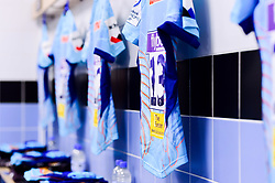 Chiefs European shirts with Heineken Champions Cup branding on the shirts in the changing room prior to kick off - Mandatory by-line: Ryan Hiscott/JMP - 13/01/2019 - RUGBY - Sandy Park Stadium - Exeter, England - Exeter Chiefs v Castres - Heineken Champions Cup