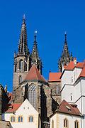 Albrechtsburg, Dom, Meißen, Sachsen, Deutschland.|.Albrechtsburg, cathedral, Meissen, Saxony, Germany.