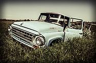 Alberta Canada, vintage International truck in grass