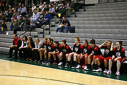 10 January 2009: The Lady Reds bench follows the action. The Illinois Wesleyan Titans, ranked #1 in the latest USA Today/ESPN poll, take down the Lady Reds of Carthage and remain undefeated,  2-0 in the CCIW and over all to 12-0. This is the first time in the history of the Lady Titans Basketball they have been ranked #1 The Titans and Lady Reds played in the Shirk Center on the Illinois Wesleyan Campus in Bloomington Illinois.