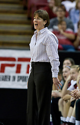 March 29, 2010; Sacramento, CA, USA; Stanford Cardinal head coach Tara VanDerveer during the second half against the Xavier Musketeers in the finals of the Sacramental regional in the 2010 NCAA womens basketball tournament at ARCO Arena. Stanford defeated Xavier 55-53.
