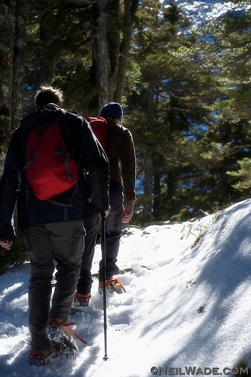 After 13 hours of nearly continous hiking, the trail back to the lodge was a bit of a trudge.