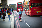 Photos &copy; Joel Chant <br /> Street photos, Skateboarder, Westminster Bridge, London