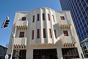Israel, Tel Aviv, renovated Eclectic style building 1925 at 7 Herzl street and Rothschild Boulevard