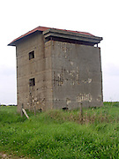Second world war look out observation tower East Lane, Bawdsey, Suffolk, England