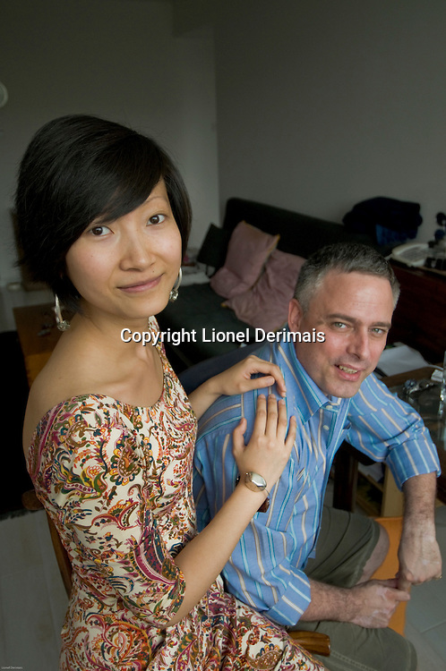 Wang Lei, Everard and Wang designer with director Ariel Welby-Everard.