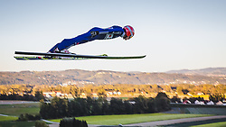 29.09.2018, Energie AG Skisprung Arena, Hinzenbach, AUT, FIS Ski Sprung, Sommer Grand Prix, Hinzenbach, im Bild Richard Freitag (GER) // Richard Freitag of Germany during FIS Ski Jumping Summer Grand Prix at the Energie AG Skisprung Arena, Hinzenbach, Austria on 2018/09/29. EXPA Pictures © 2018, PhotoCredit: EXPA/ JFK