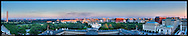 View of Washington, DC including The White House and Washington Monument.  Print Size (in inches): 15x3; 24x5.5; 36x7; 48x9; 60x11; 72x14