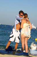 **EXCLUSIVE**.Princess Beatrice kissing her boyfriend.Club 55 Restaurant .St. Tropez, France..Sunday, July 29, 2007.Photo By Celebrityvibe.com.To license this image please call (212) 410 5354; or.Email: celebrityvibe@gmail.com ;.