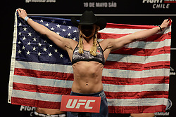 May 18, 2018 - Santiago, Chile - SANTIAGO , SC - 18.05.2018: UFC FIGHT NIGHT CHILE MAIA VS USMAN - Andrea Lee during the UFC Fight Night Chile - Maia vs. Usman held at Movistar Arena. Santiago, SC. (Credit Image: © Reinaldo Reginato/Fotoarena via ZUMA Press)