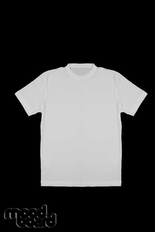 White shirt on black background
