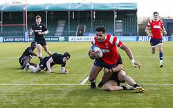 Deago Bailey of Bristol Bears U18 scores a try - Mandatory by-line: Arron Gent/JMP - 12/01/2020 - RUGBY - Allianz Park - London, England - Saracens U18 v Bristol Bears U18 - Premiership U18 Academy