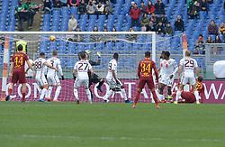 January 19, 2019 - Rome, Italy - Nicolò Zaniolo kicks goal 1-0 during the Italian Serie A football match between A.S. Roma and F.C. Torino at the Olympic Stadium in Rome, on january 19, 2019. (Credit Image: © Silvia Lore/NurPhoto via ZUMA Press)