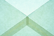 close up of an open envelope