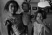 Three siblings in Mysore Province, India.  (1975)