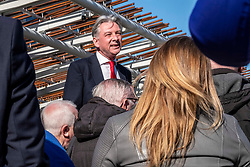 Pictured: Richard Leonard<br /><br />Richard Leonard, leader of Scottish labour, Patrick Harvie, co-leader of the Scotrtish Greens, joined other MSPs and memberes of the RMT union today to protest against Abellio contract. The rail union were demonstrating outside the Scottish Parliament in a call for the termination of privateer Abellio ScotRail's contract.<br /><br />Ger Harley   EEm 2 October 2019