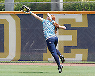 Beth Peller making an amazing catch prior to game time against Western Kentucky.