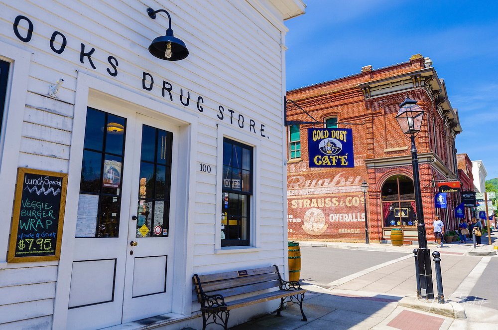 Cooks corner drug store, Jacksonville, Oregon USA