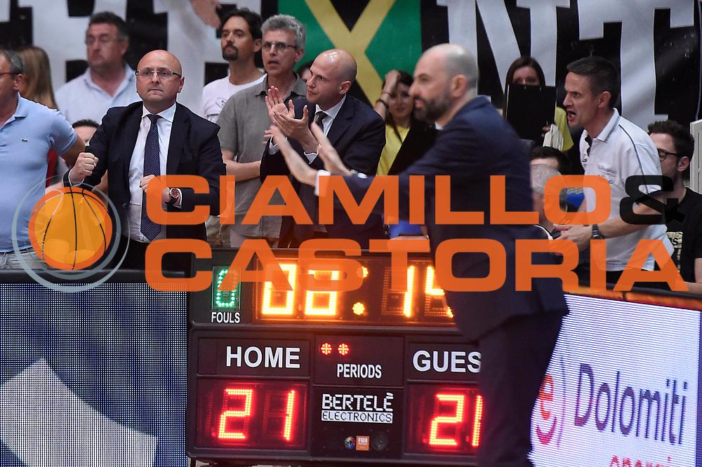 Salvatore Trainotti<br /> Dolomiti Energia Aquila Basket Trento - Umana Reyer Venezia<br /> Lega Basket Serie A 2016/2017<br /> Playoff, finale gara 3<br /> Trento, 14/06/2017<br /> Foto M.Ceretti / Ciamillo-Castoria