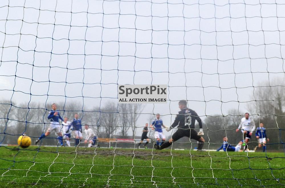 Goal - Jamie Stevenson of Peterhead strikes to make the score 3-0 at Stair Park......(c) BILLY WHITE | SportPix.org.uk