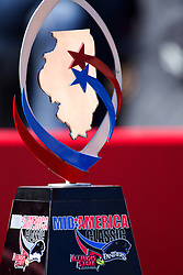 13 September 2014:   Mid-America Classic Trophy during an NCAA football game between the Eastern Illinois Panthers and the Illinois State Redbirds at Hancock Stadium in Normal IL