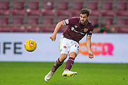 Benjamin Garuccio (#17) of Heart of Midlothian during the 4th round of the William Hill Scottish Cup match between Heart of Midlothian and Livingston at Tynecastle Stadium, Edinburgh, Scotland on 20 January 2019.