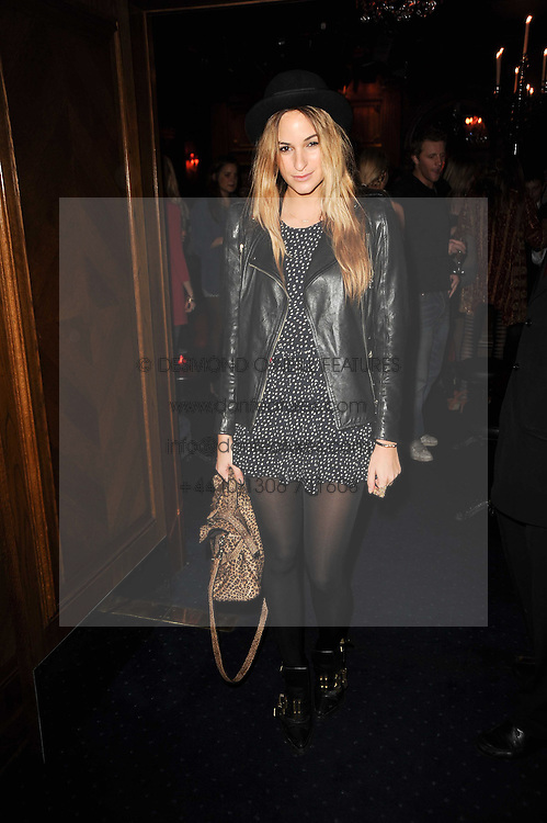 KIMI HAMMERSTROEM at the Tatler Little Black Book Party held at Tramp, 40 Jermyn Street, London on 3rd November 2010.