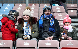 Huddersfield Town fans in the stands prior to the match